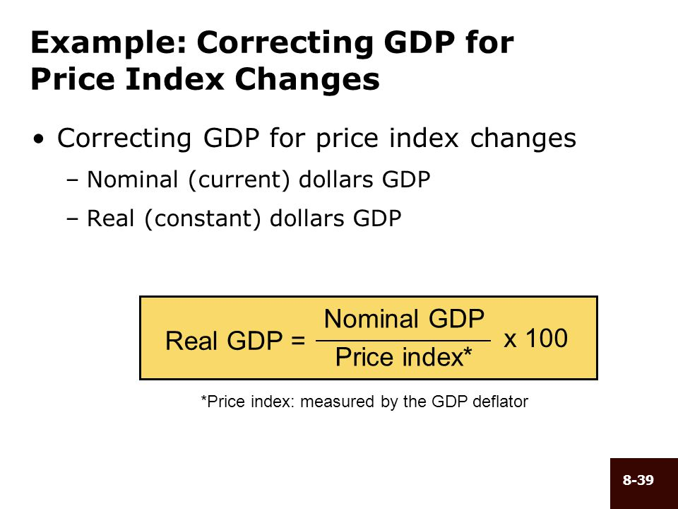 Example: Correcting GDP for Price Index Changes