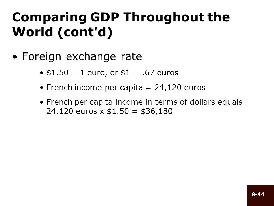 Comparing GDP Throughout the World (cont d)