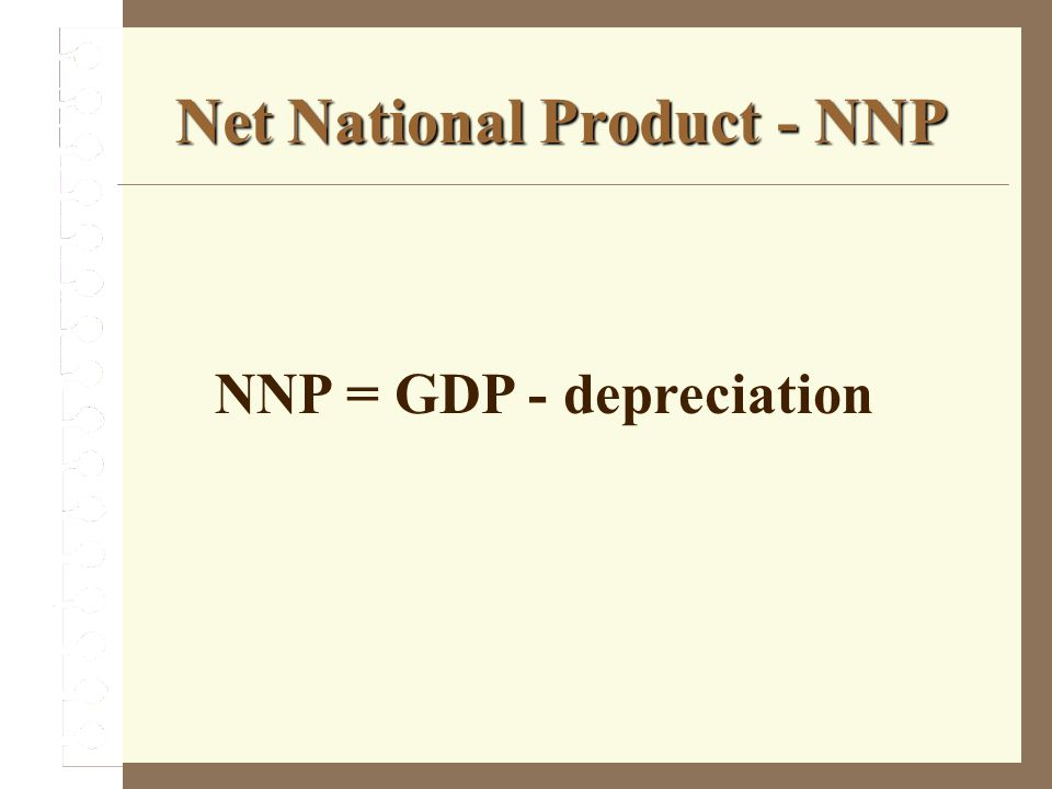 Net National Product - NNP