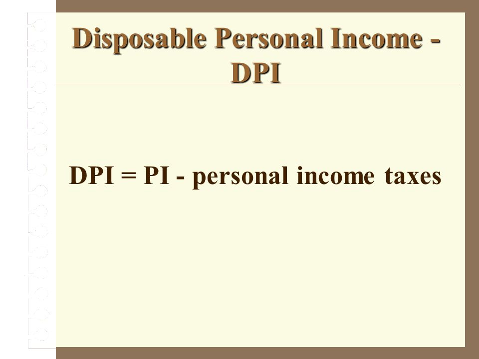 Disposable Personal Income - DPI