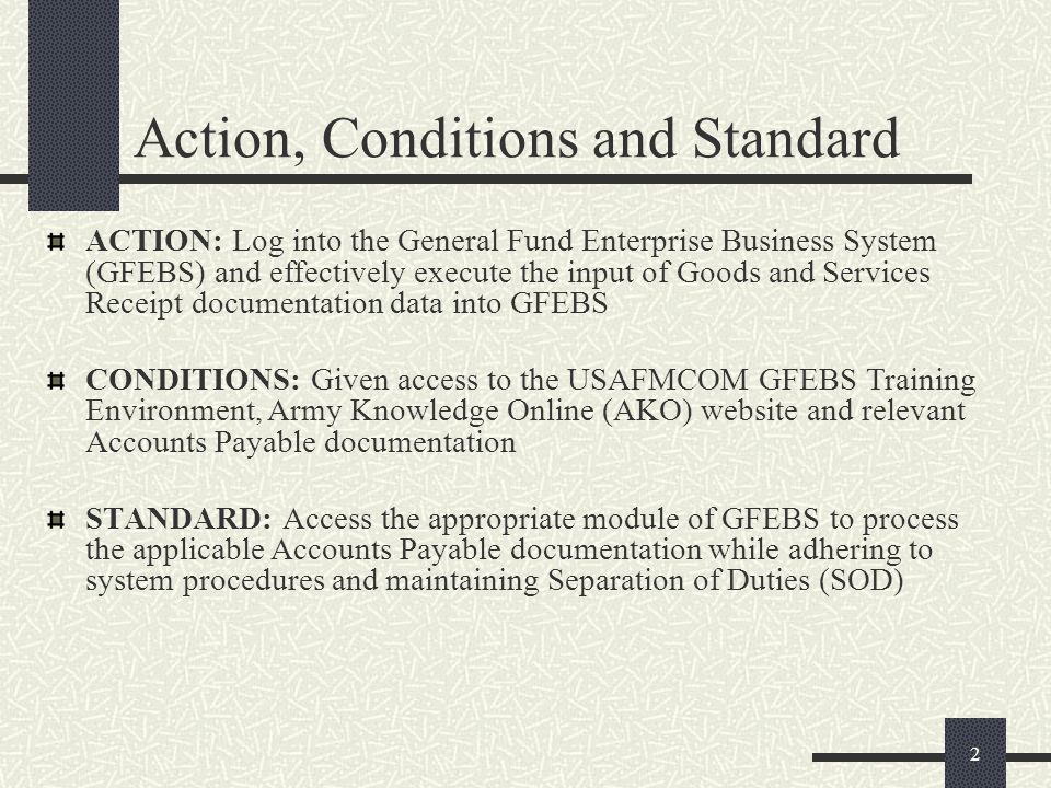 gfebs goods and services receipt processes for ppt download
