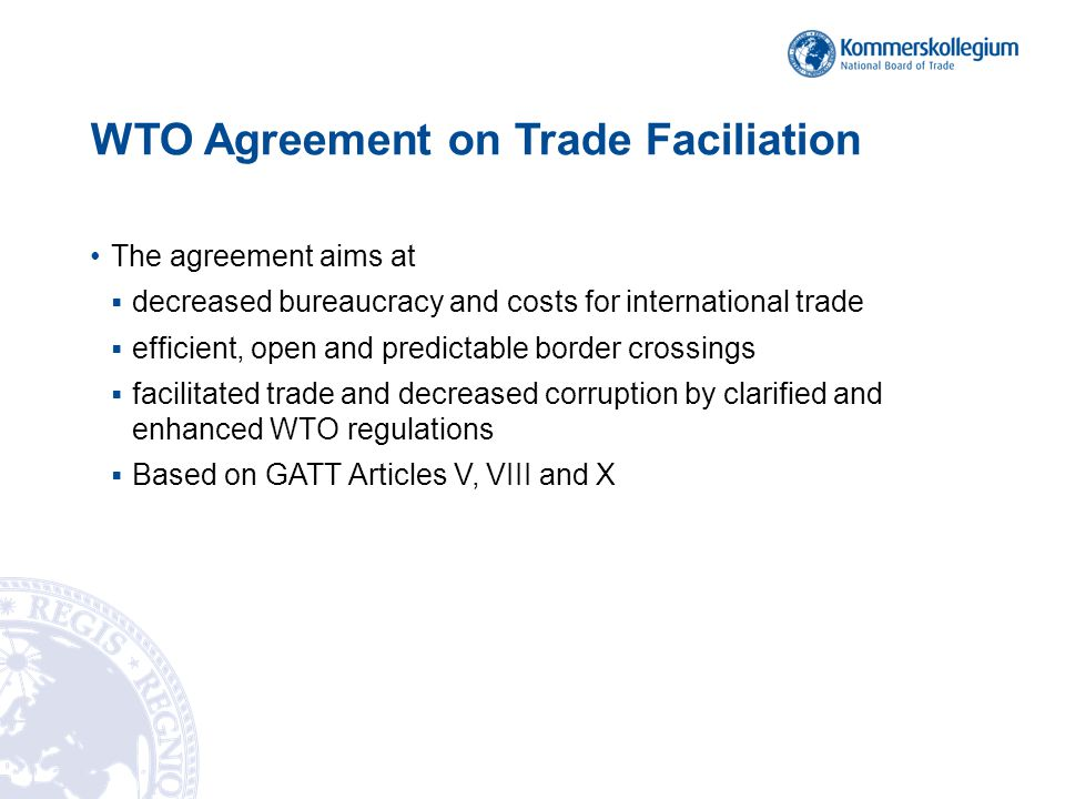 Wto Agreement On Trade Facilitation Highlights For Itpd Discussion