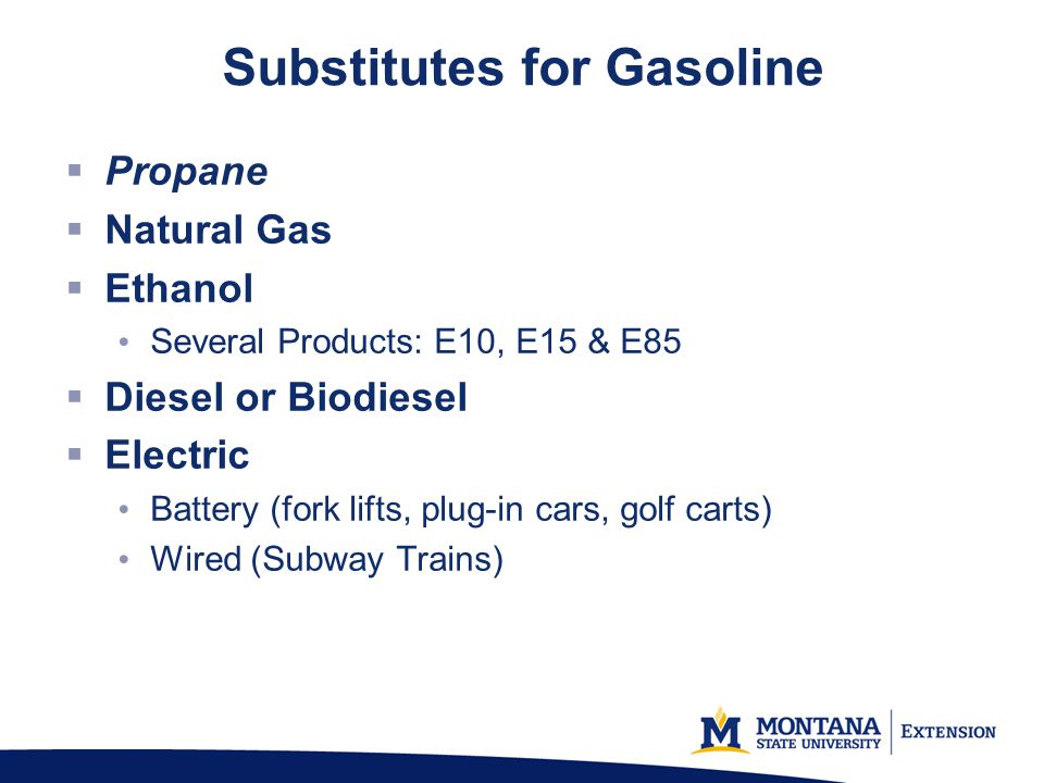 Subsutes For Gasoline