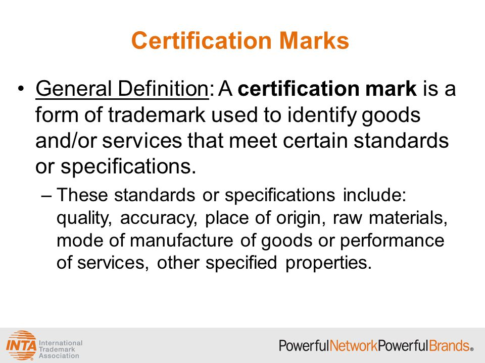 Collective Marks And Certification Marks Ppt Video Online Download
