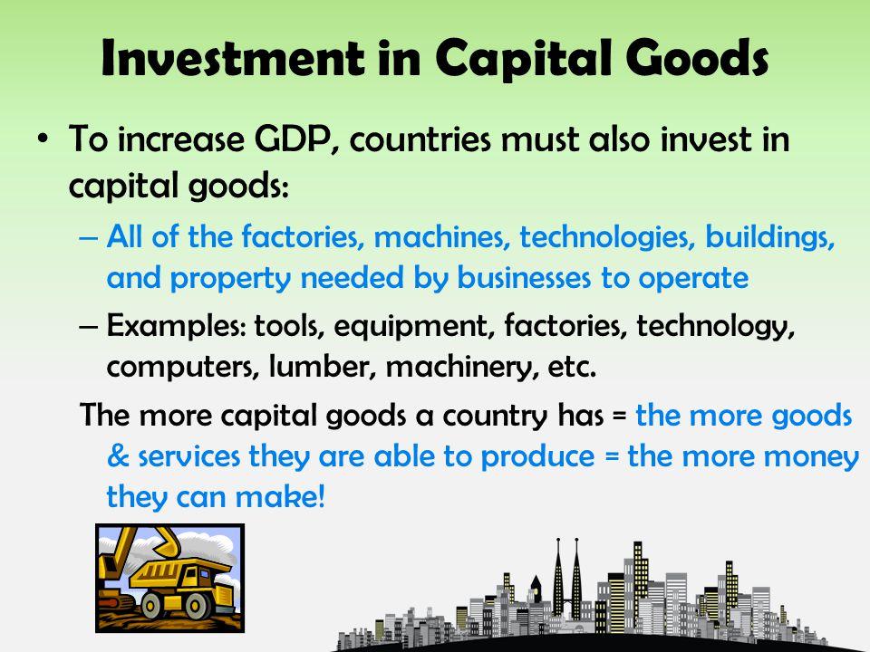 Economic investment examples.