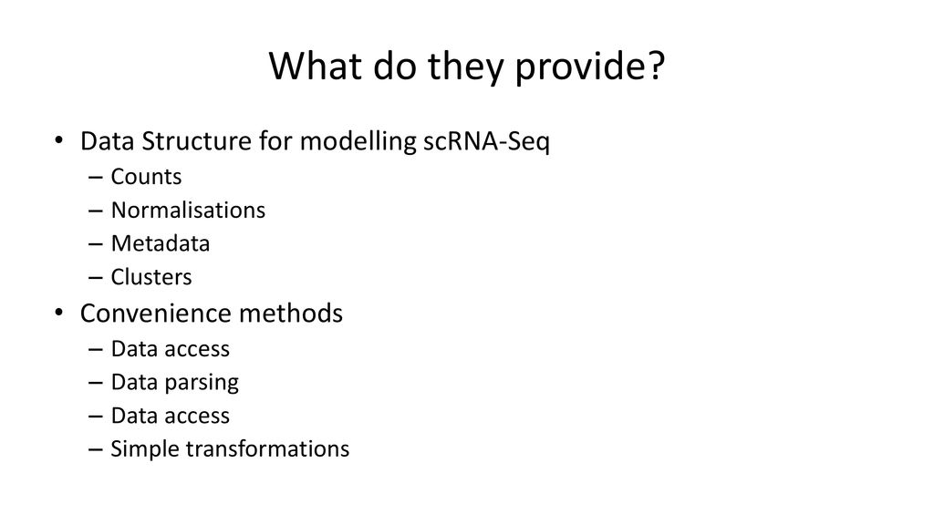 R Packages for Single-Cell RNA-Seq - ppt download