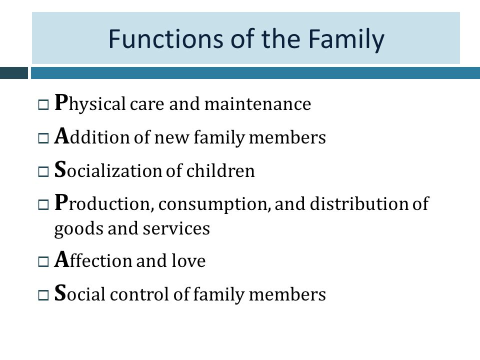 role of family in social control