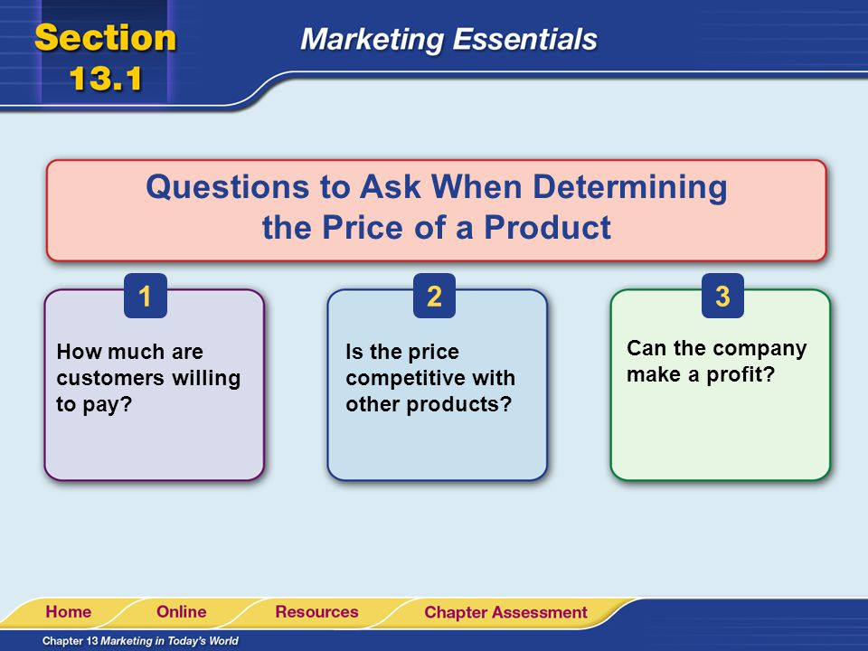 Questions to Ask When Determining the Price of a Product