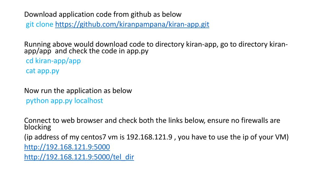 Download the PPT and code from github as below - ppt download