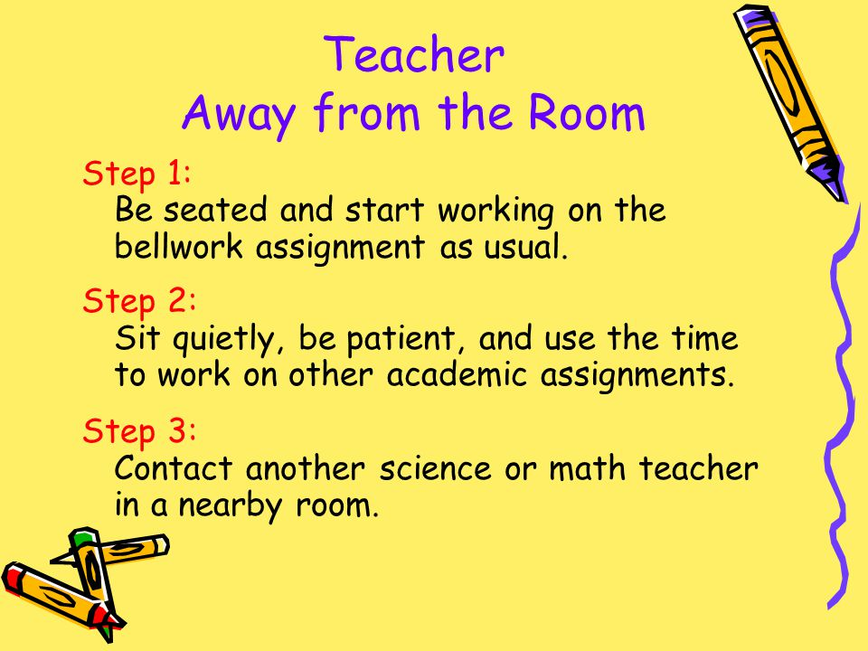 Teacher Away from the Room