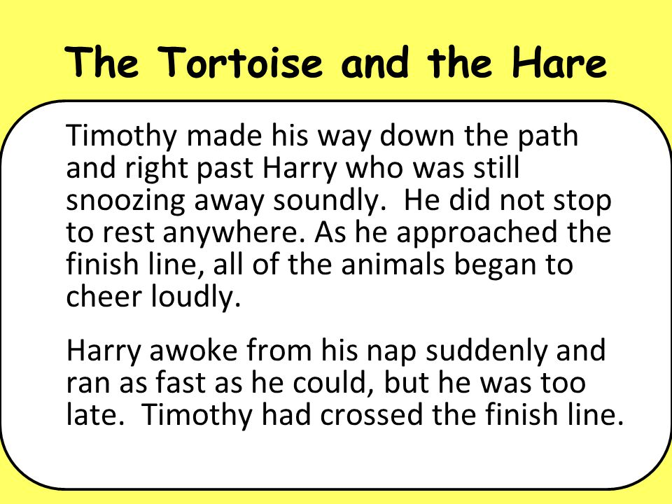 short story of rabbit and turtle