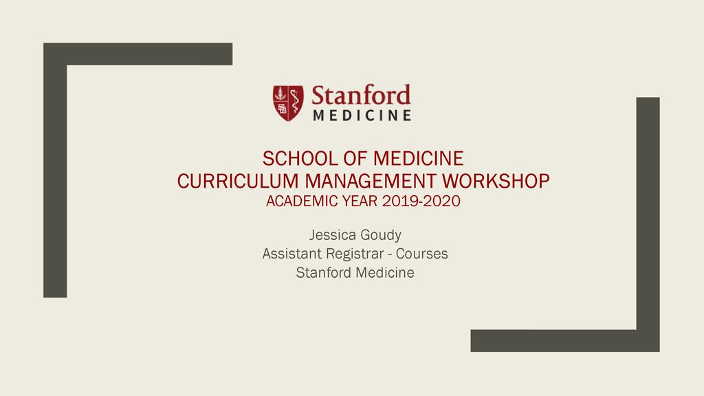 Jessica Goudy Assistant Registrar - Courses Stanford