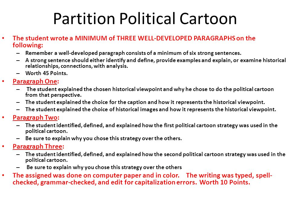 Partition Political Cartoon