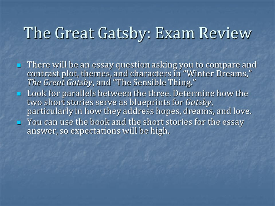 Business Essay Writing Service The Great Gatsby Exam Review Types Of English Essays also E Business Essay The Great Gatsby Finish  Ppt Video Online Download Essay On Global Warming In English