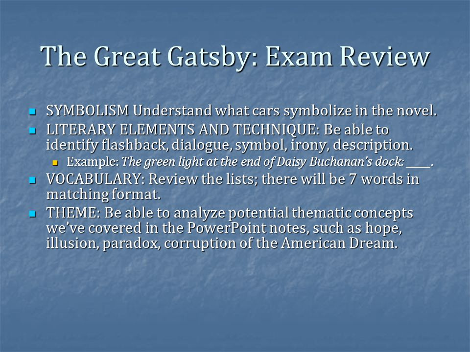 The Great Gatsby Finish Ppt Video Online Download