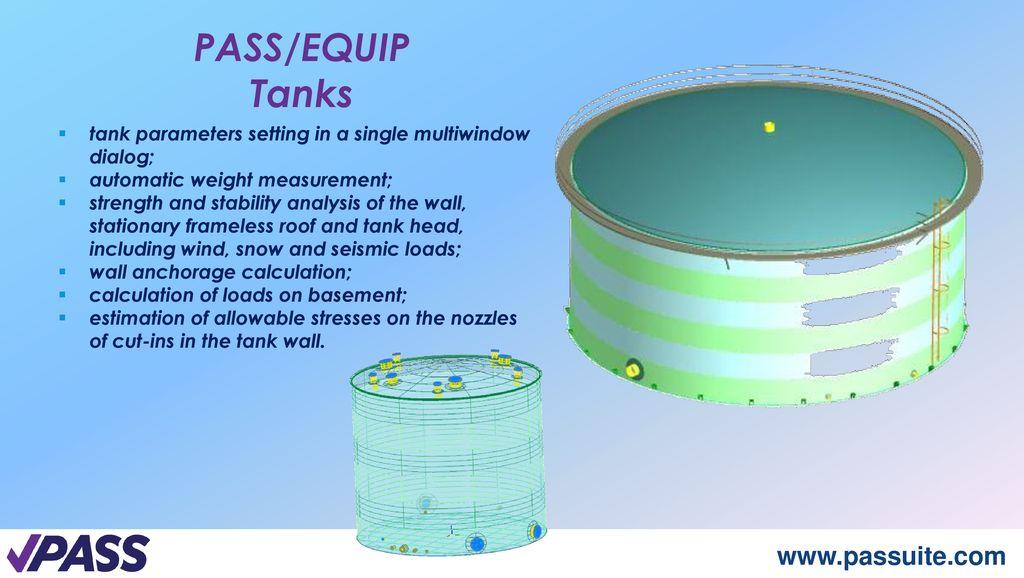 EQUIP Pressure Vessels, Heat Exchangers, Tanks Design