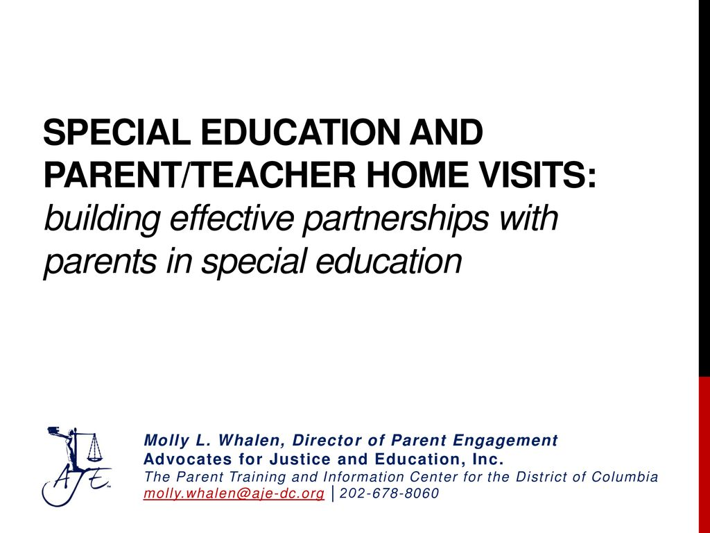 Empowering Parents In Special Education >> Special Education And Parent Teacher Home Visits Building Effective