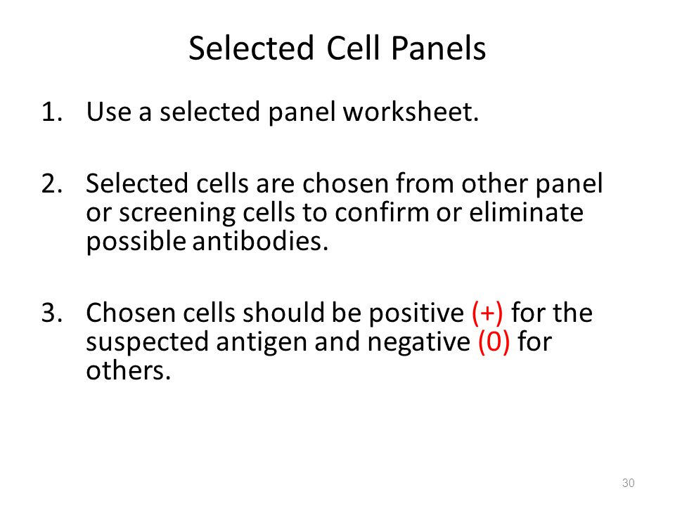 Selected Cell Panels Use a selected panel worksheet.