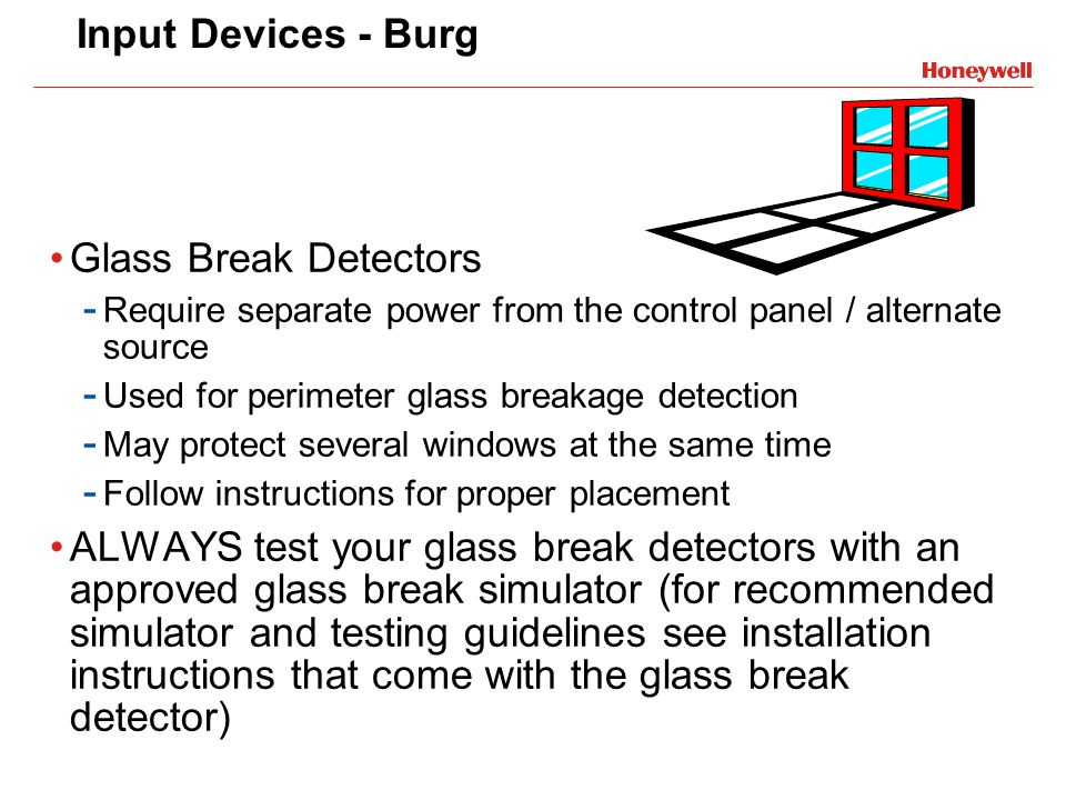 Input Devices - Burg Glass Break Detectors