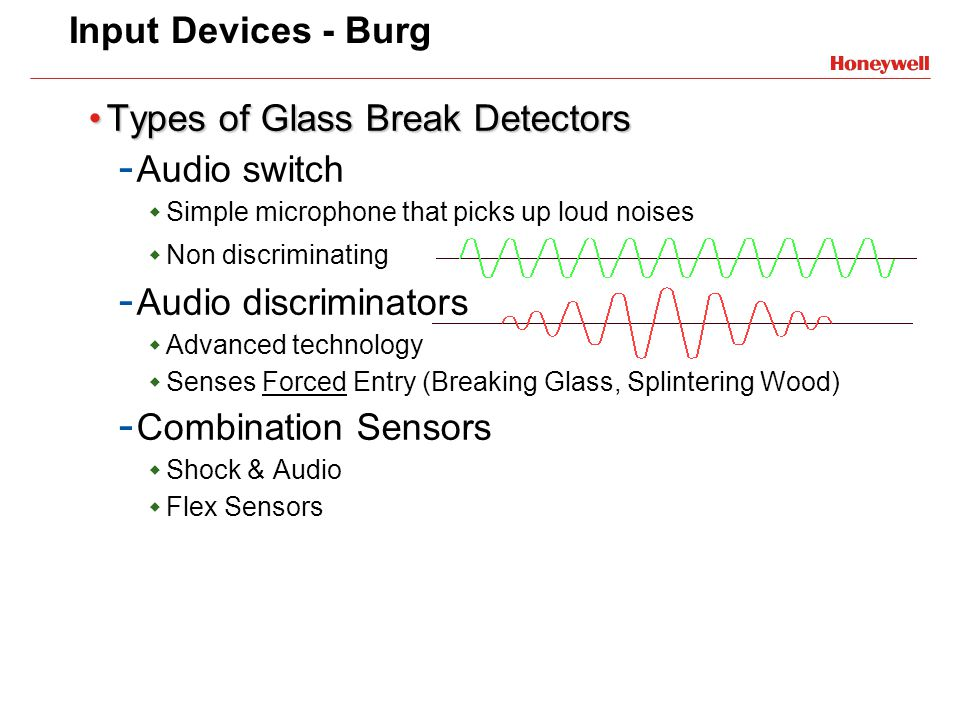 Types of Glass Break Detectors Audio switch