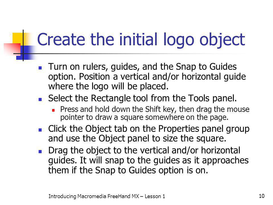 Create the initial logo object