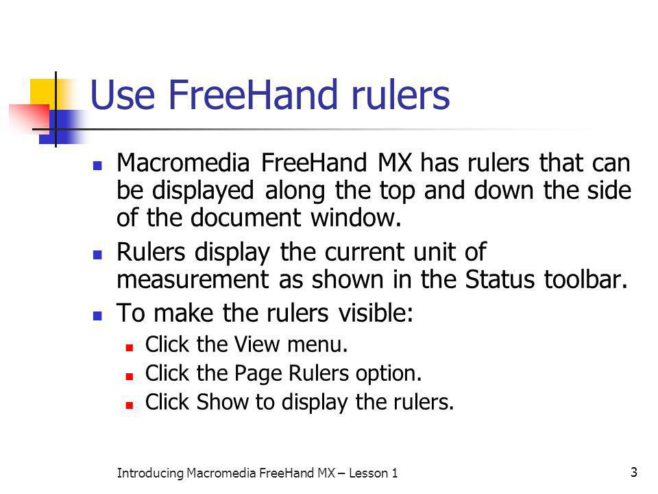 Introducing Macromedia FreeHand MX – Lesson 1