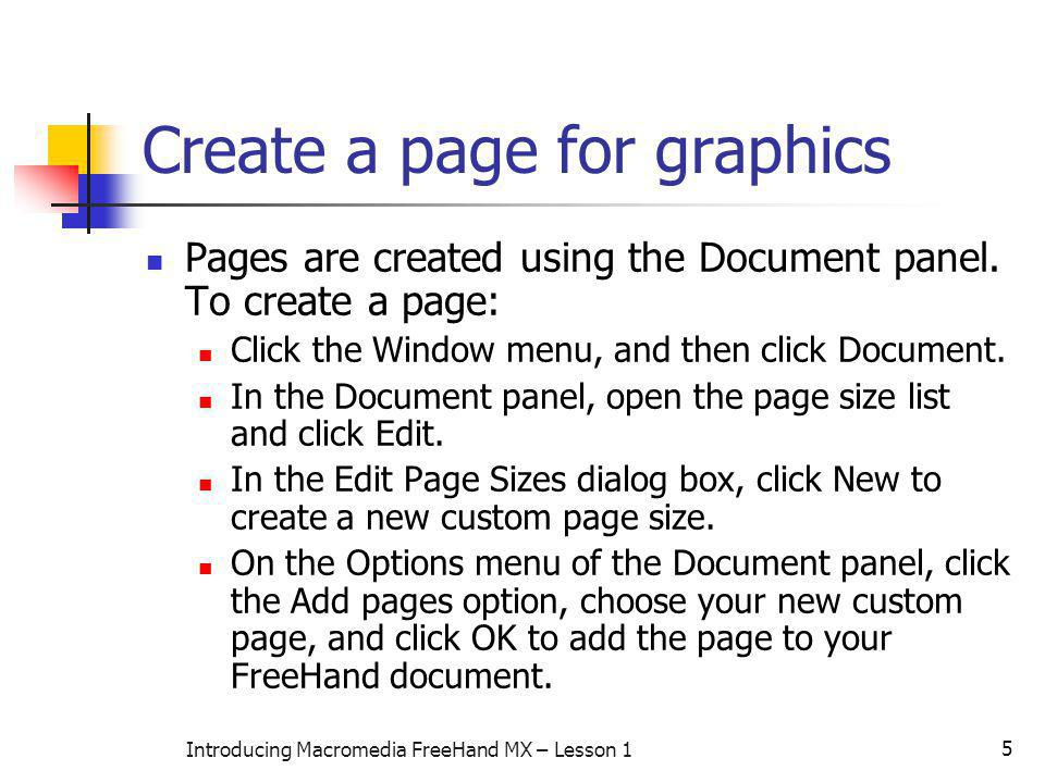 Create a page for graphics