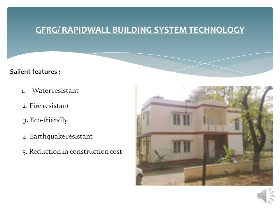 GFRG/ RAPIDWALL BUILDING SYSTEM TECHNOLOGY
