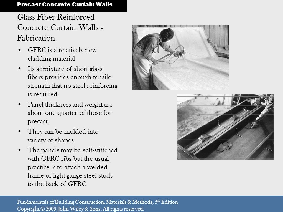 Glass-Fiber-Reinforced Concrete Curtain Walls - Fabrication