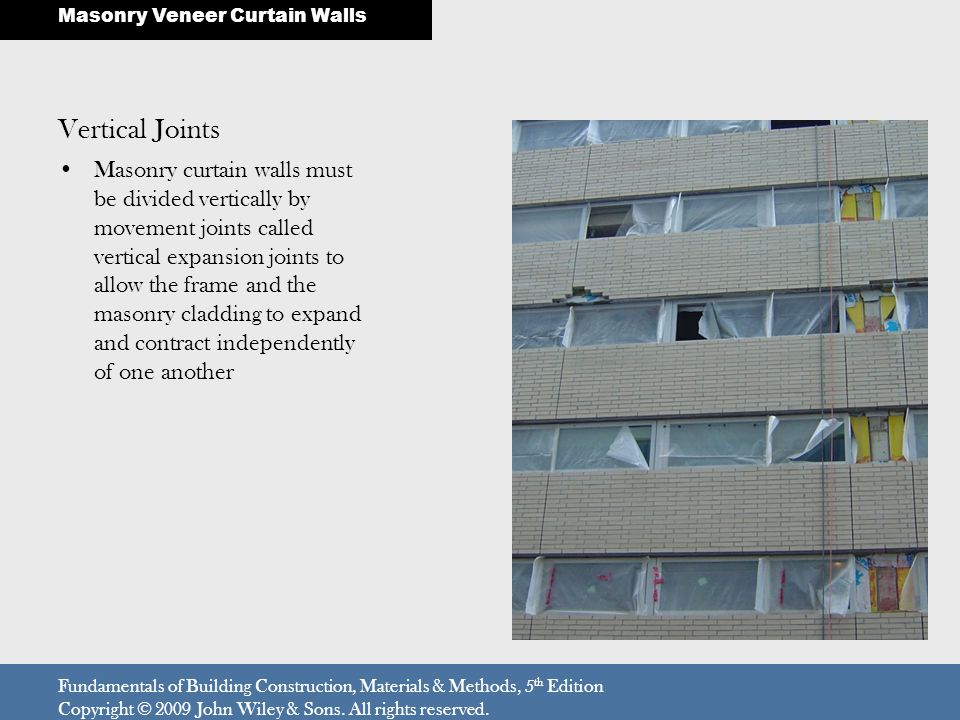Masonry Veneer Curtain Walls