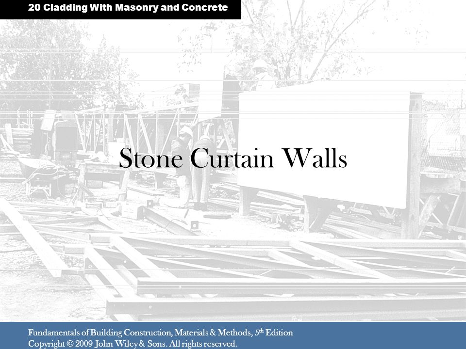 Stone Curtain Walls 20 Cladding With Masonry and Concrete
