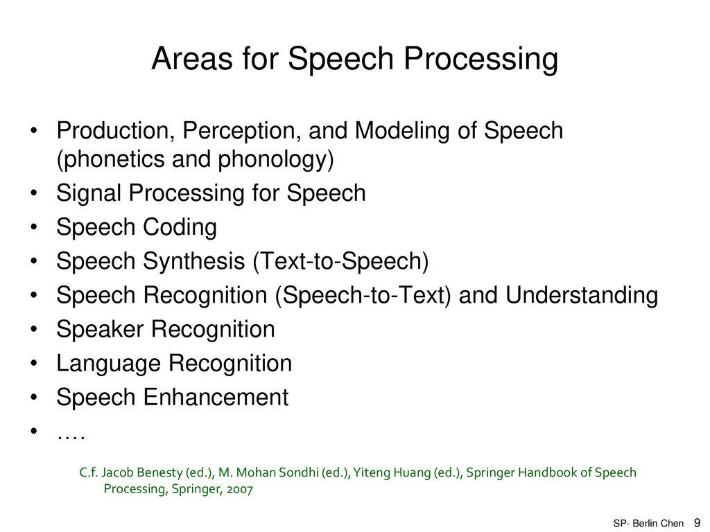 Speech Recognition Berlin Chen - ppt download