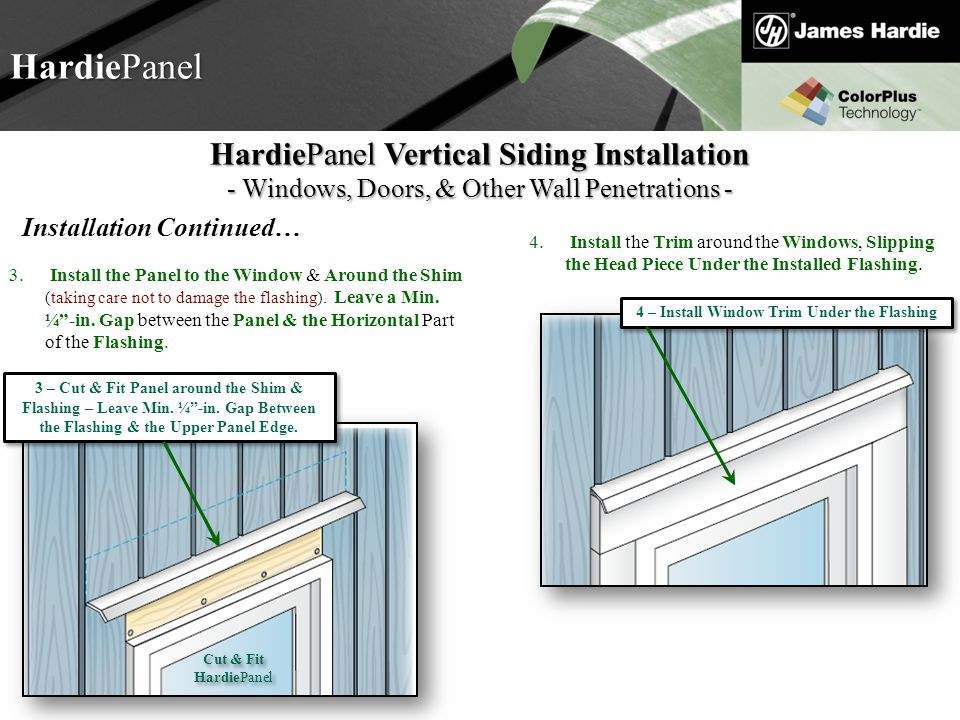 Welcome to hardie 101 basic training ppt video online download 4 install window trim under the flashing thecheapjerseys Images
