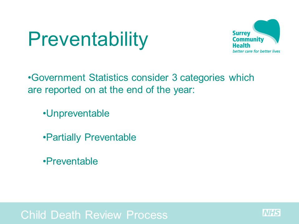 Preventability Child Death Review Process
