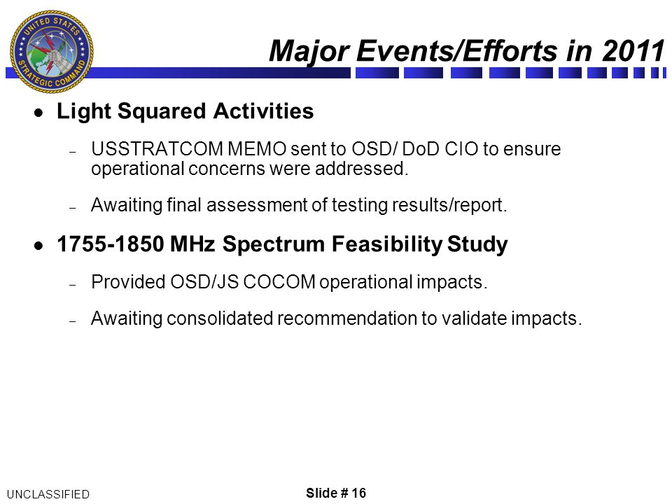 Chief, Space and Missile Defense C4 Division/J66 13 Dec ppt video