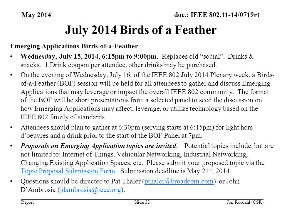 July 2014 Birds of a Feather May 2014