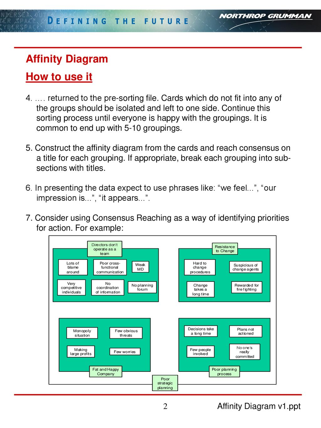 Affinity Diagram affinity diagram what it is how to use it - ppt download