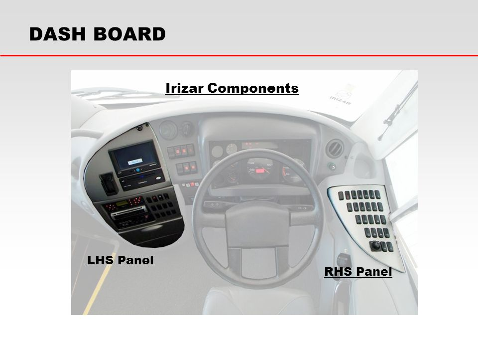 DASH BOARD Irizar Components LHS Panel RHS Panel