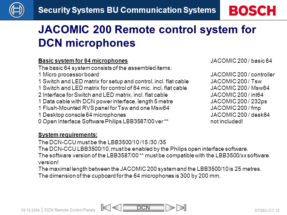 DCN Remote control facilities - ppt download