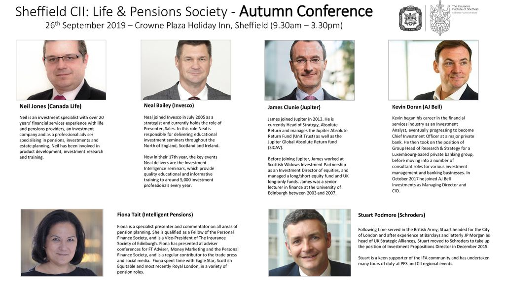 Sheffield CII: Life & Pensions Society - Autumn Conference