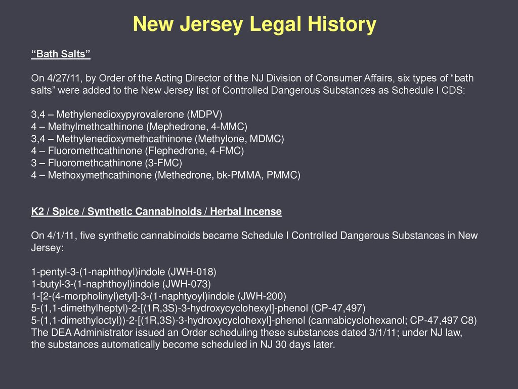 Designer Drug Issues in the State of New Jersey - ppt download