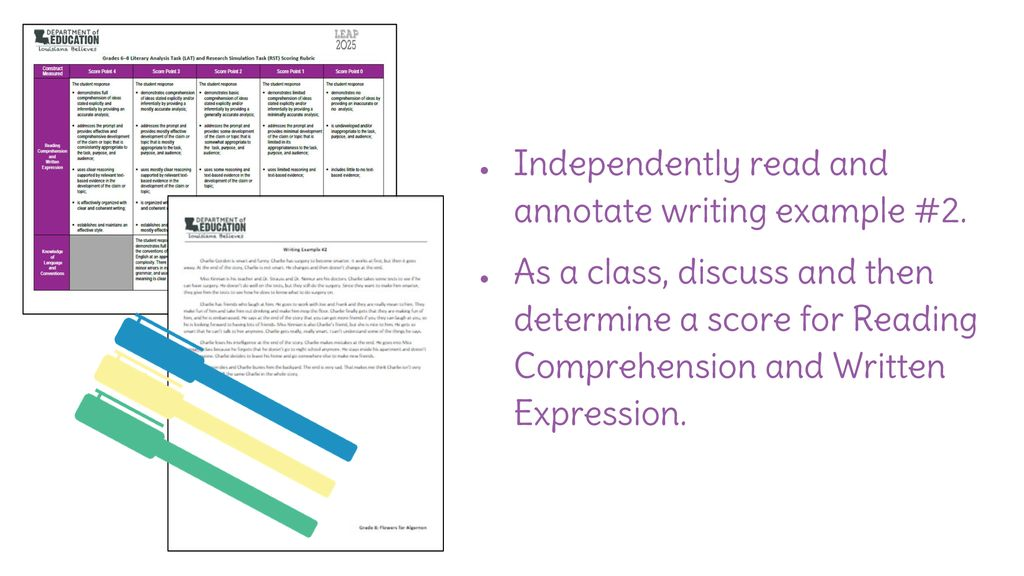 Lesson 33: Review Example Responses and Revise Culminating