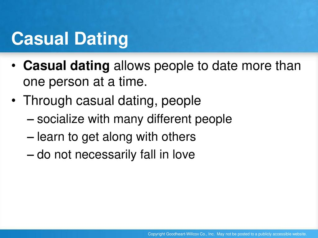 casual dating more than one person