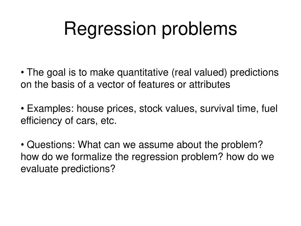 10701 / Machine Learning Today: Regression - ppt download