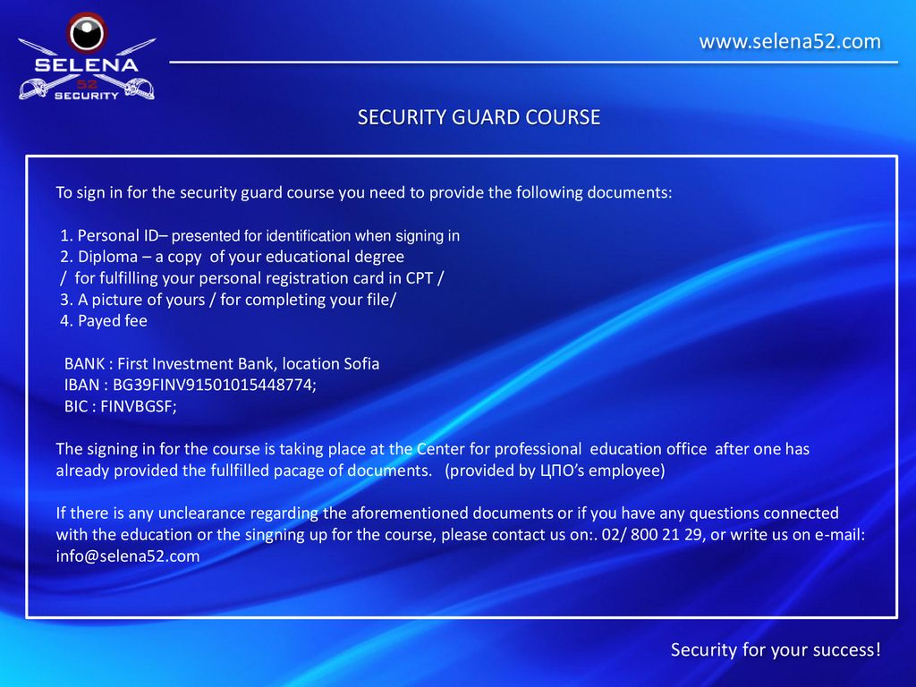 Security for your success  - ppt download