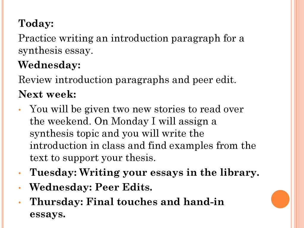 Example Thesis Statement Essay  High School Dropouts Essay also Thesis Statement For Analytical Essay The Synthesis Essay A Guide Ppt Download Yellow Wallpaper Essays