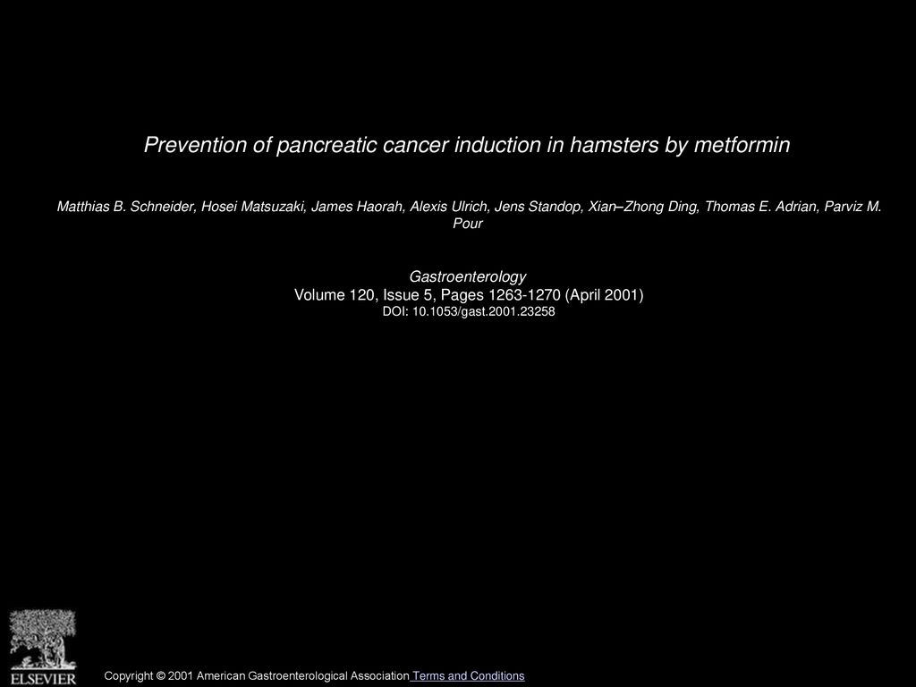 Prevention of pancreatic cancer induction in hamsters by