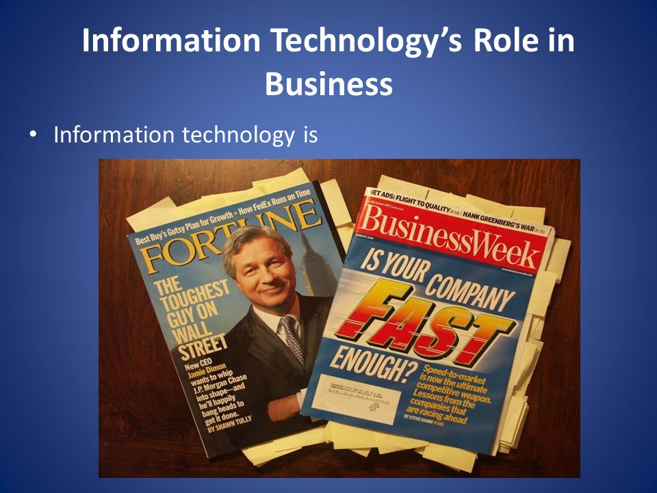 Information Technology's Role in Business