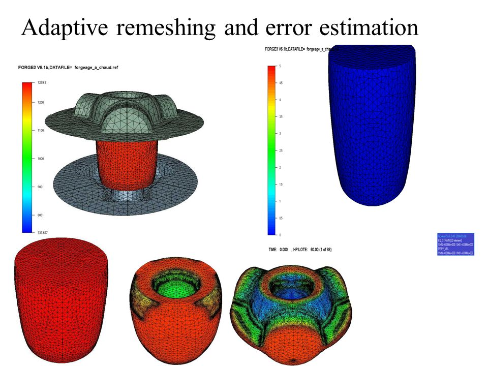 Adaptive remeshing and error estimation