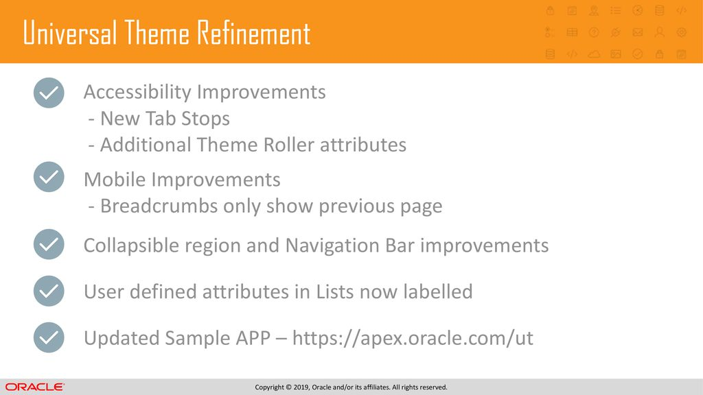 Oracle APEX 19 1 New Features - ppt download